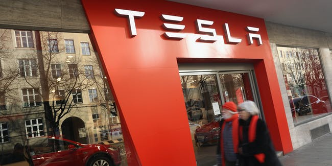 A Tesla Dealership in Munich Germany, which does not mind Tesla's direct-to-consumer business model.