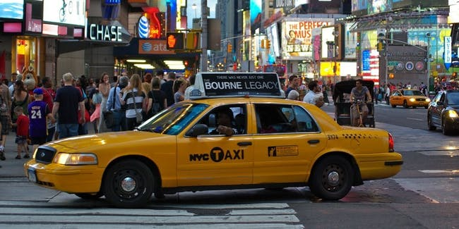 New York City - Time Square - Yellow Cab