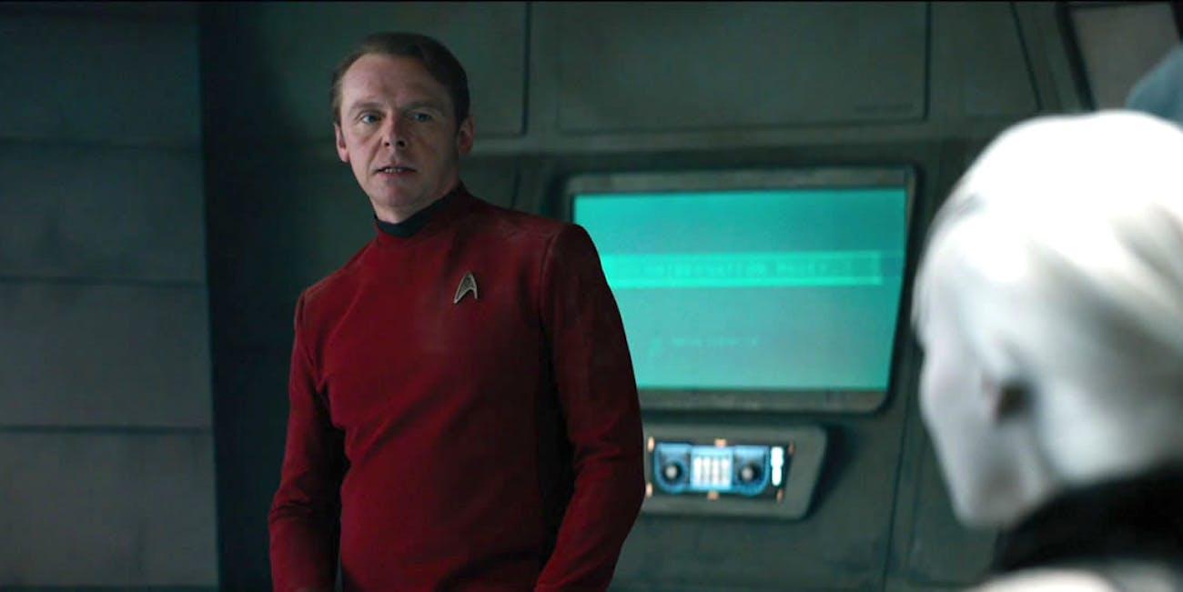 Simon Pegg as Scotty in 'Star Trek Beyond'