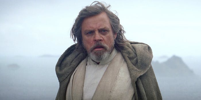 Luke Skywalker in 'The Force Awakens'