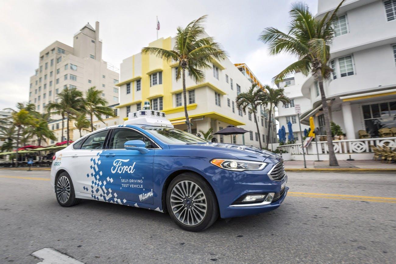 Ford's autonomous car.