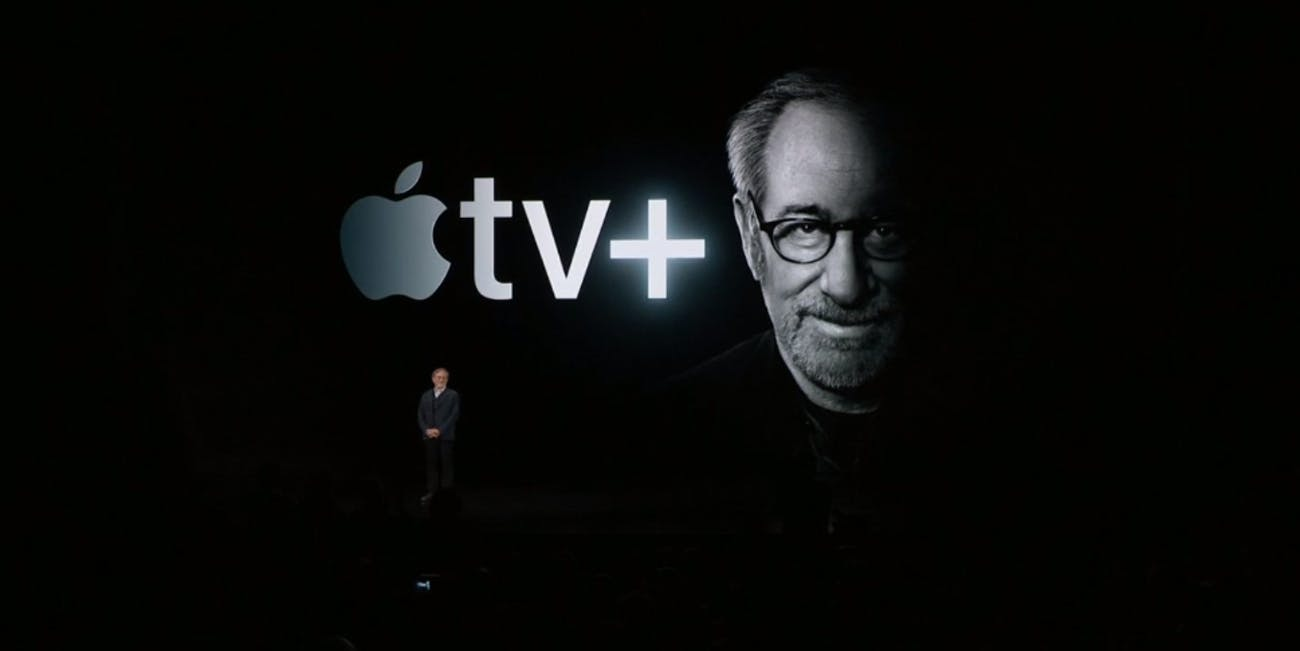 Steven Spielberg during the Apple livestream event on March 25, 2019.
