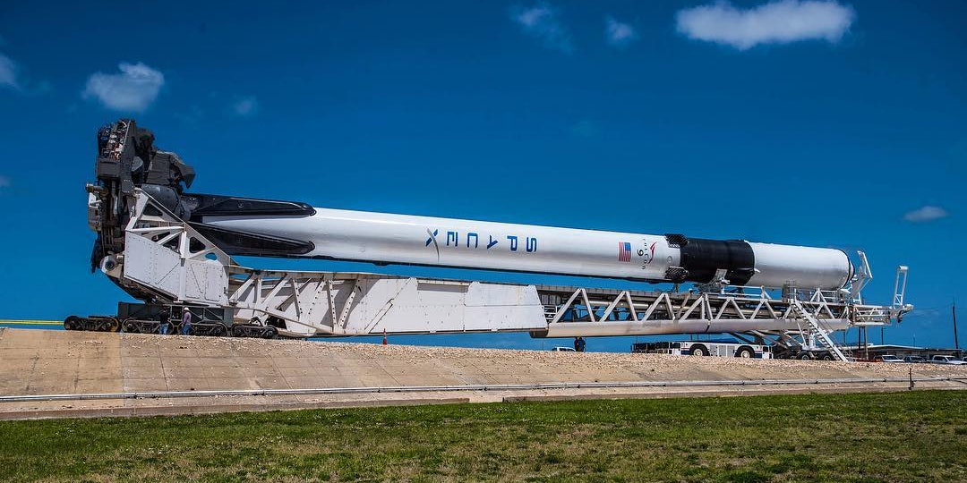 Elon Musk Shares Stunning Photo of SpaceX Falcon 9 Block 5 Before Launch