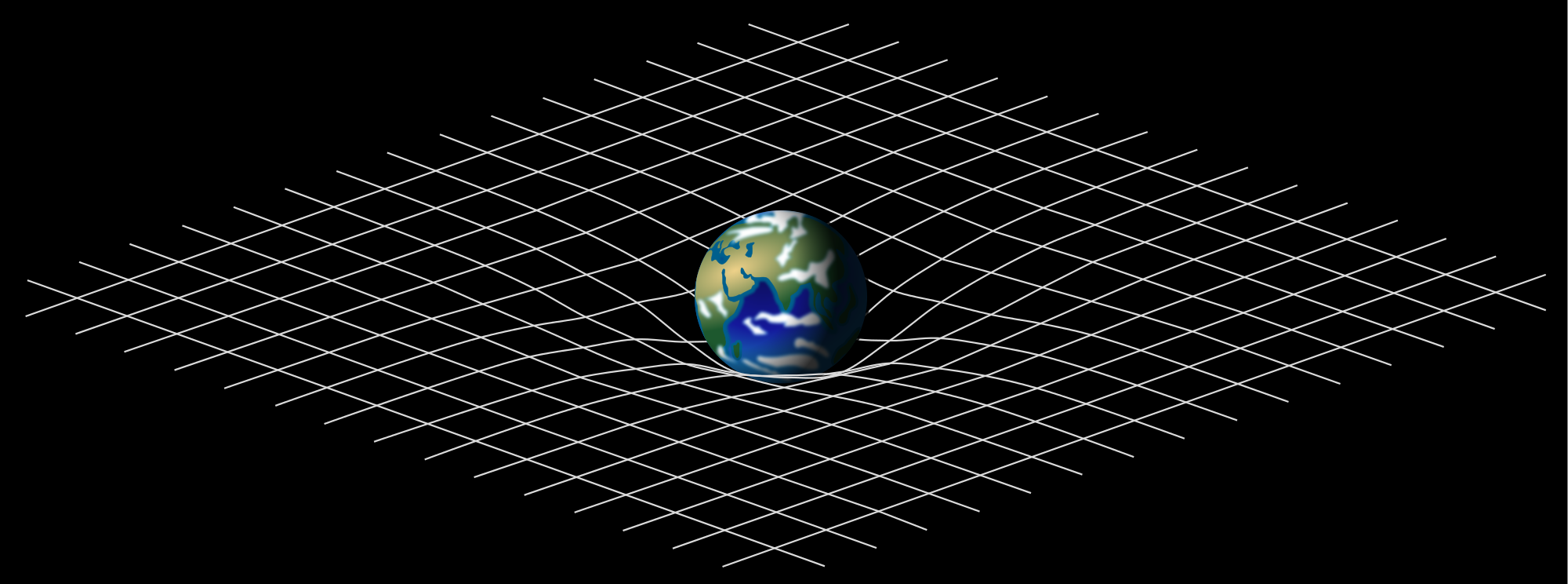 Einstein's theory of relativity predicted that space and time exist in a mesh-like continuum, which can be bent by gravity.