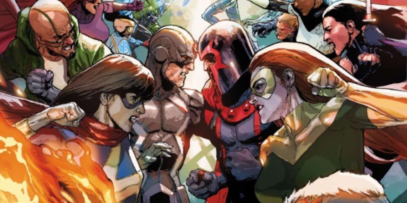 Inhumans vs X-Men cover