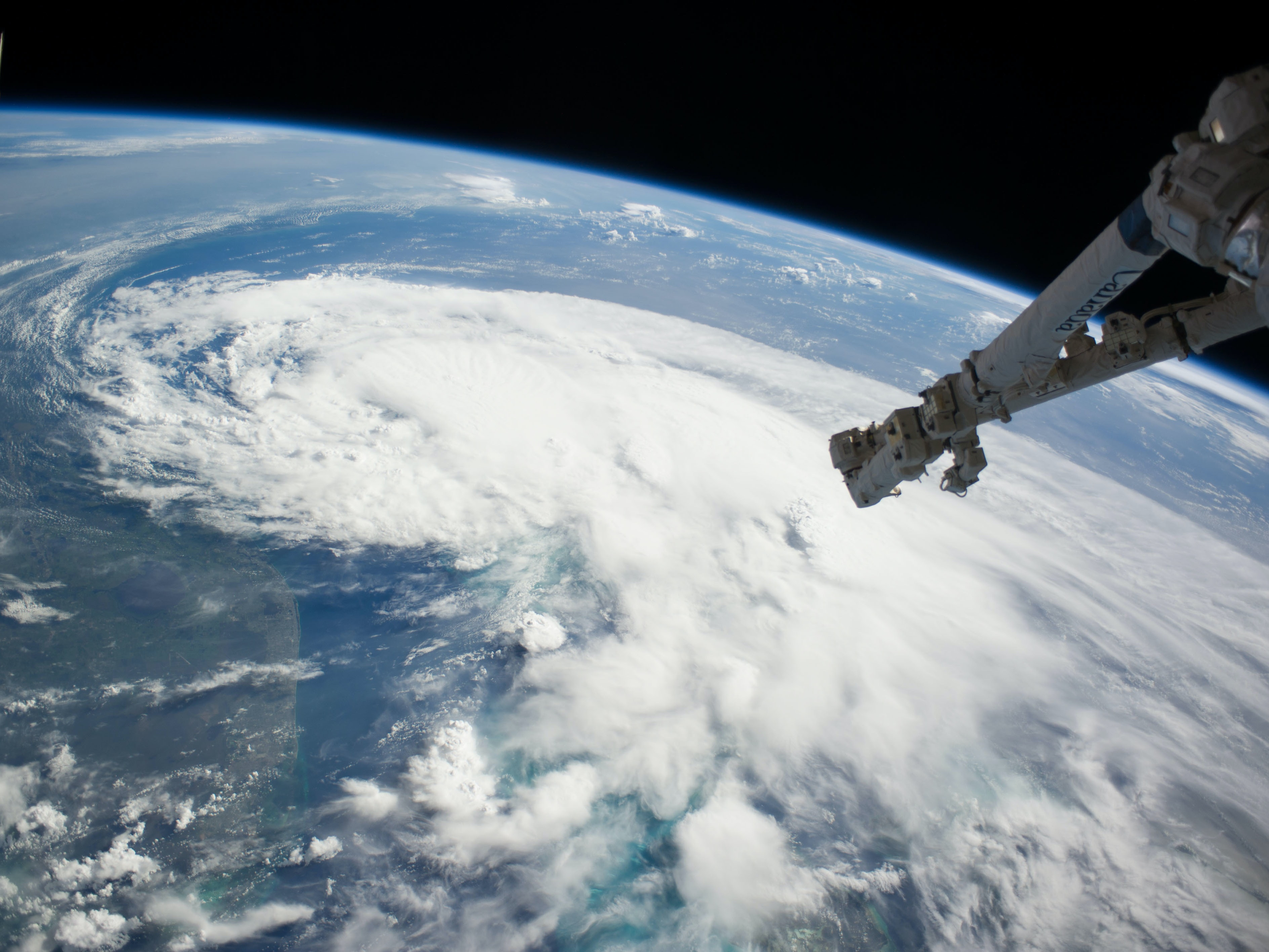 A view of Tropical Storm Arthur from the ISS