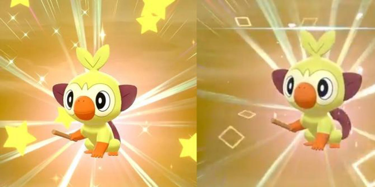 Pokemon Sword and Shield Square Vs Star Shiny Pokemon