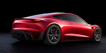 Tesla's Roadster is the fastest production vehicle ever.