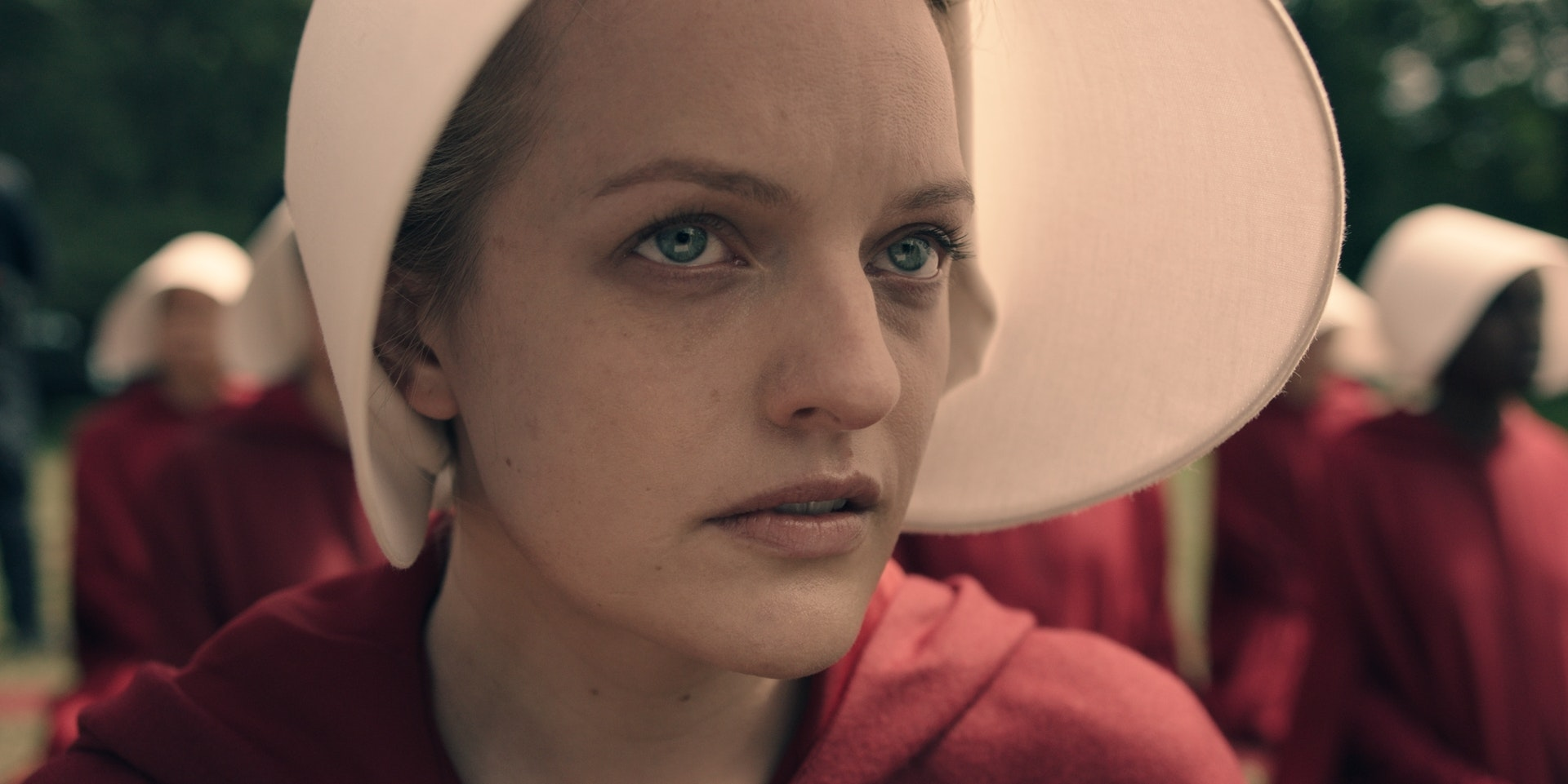 Margaret Atwood's Offred is Elizabeth Moss onscreen