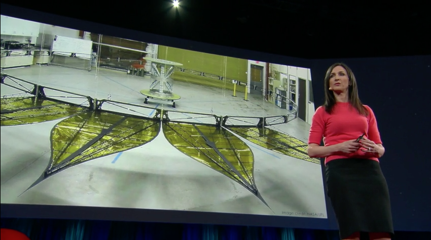 Seager talks about the Starshade project in her March 2015 TED Talk.