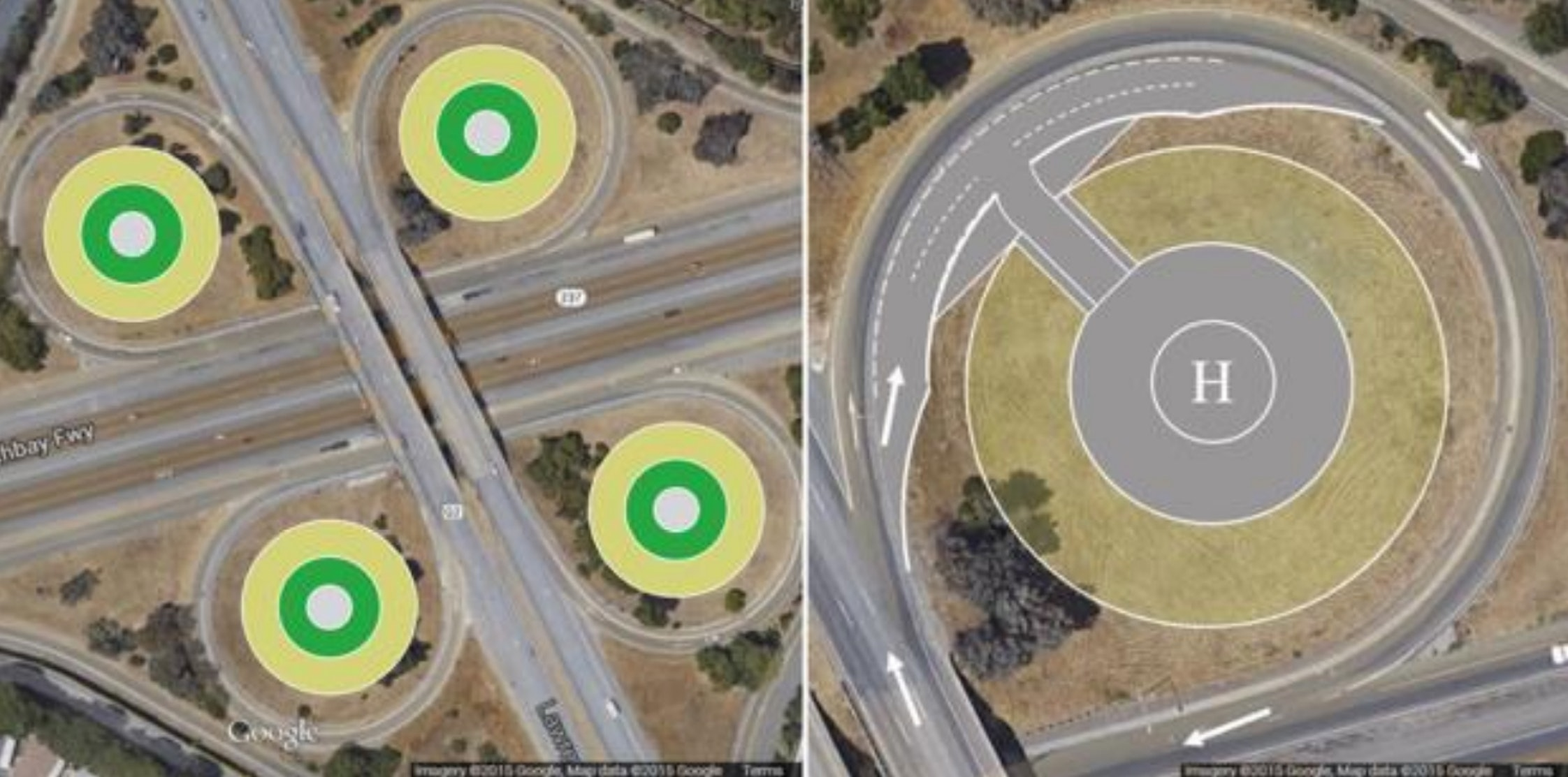 NASA research on how existing highway structures could be repurposed to include vertistops in convenient locations.