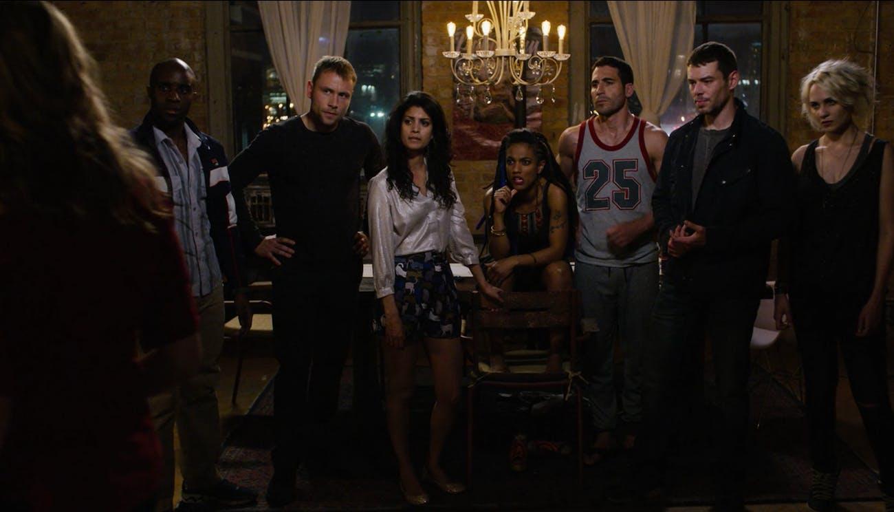 Capheus, Wolfgang, Kala, Amanita, Lito, Will, and Riley in 'Sense8'