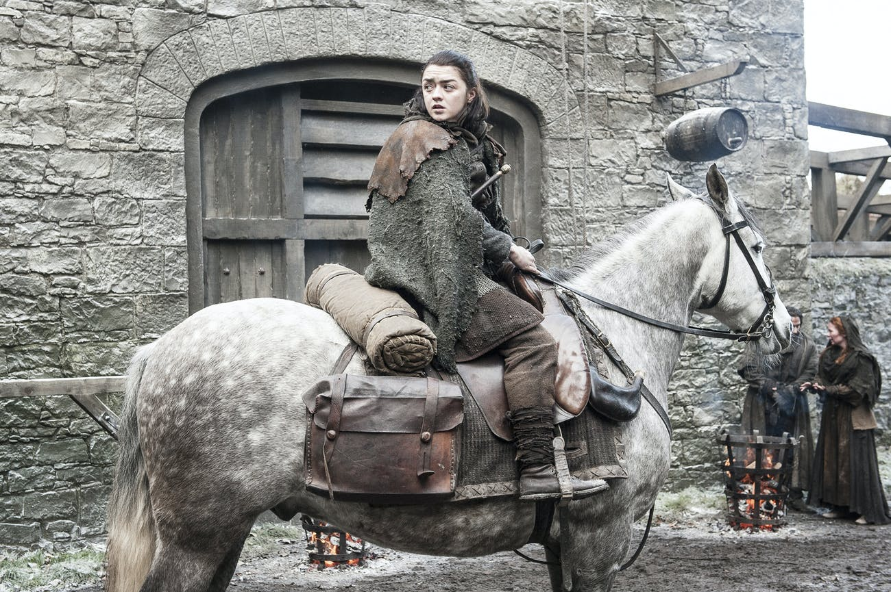 Maisie Williams as Arya Stark in 'Game of Thrones' Season 7 episode 2, 'Stormborn'