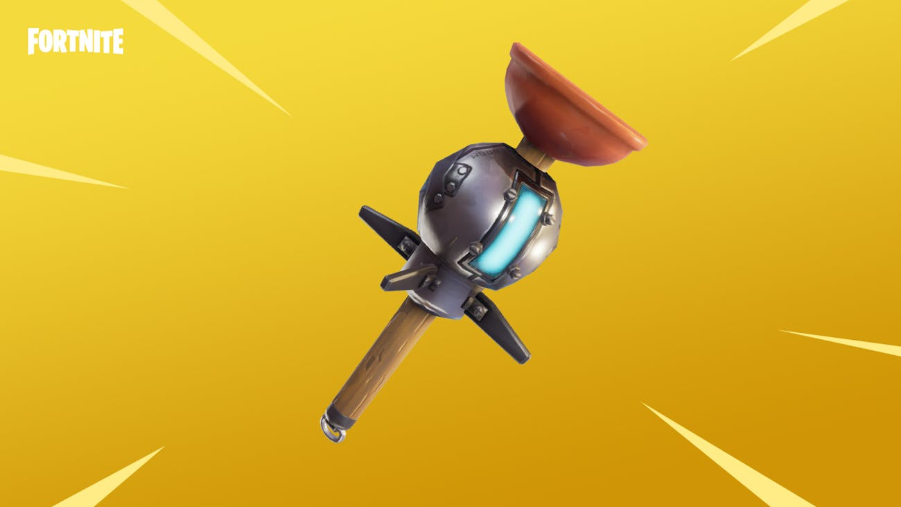 "The new ""Clinger"" weapon in ""Fortnite."""