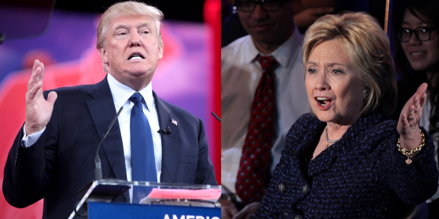 Presidential candidates Donald Trump and Hillary Clinton.
