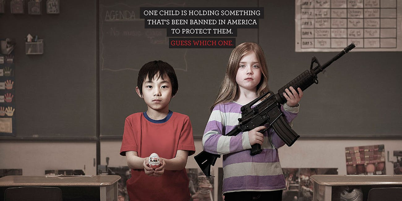 Moms Demand Action Kinder Eggs Assault Rifle