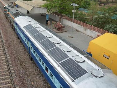 Solar powered train Indian Railway