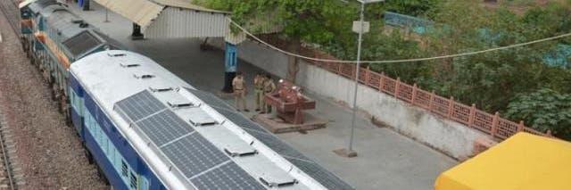 Solar powered train Indian Railway