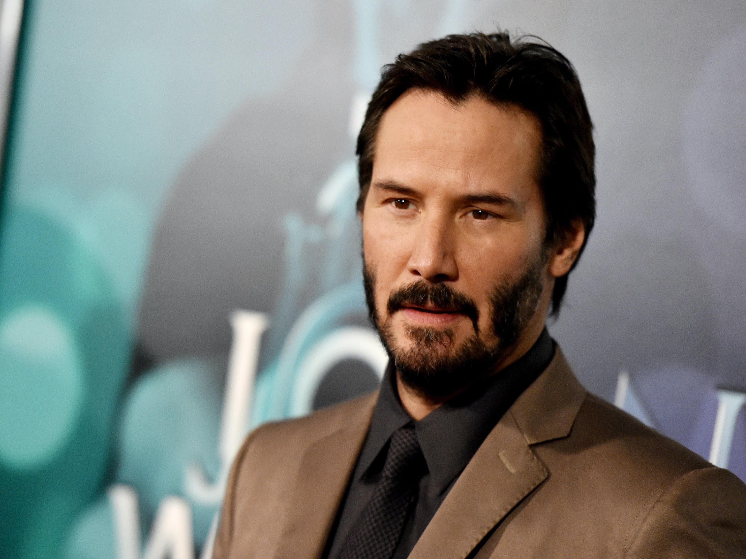 Keanu Reeves Reunites With Laurence Fishburne in 'John Wick 2' Set Photos