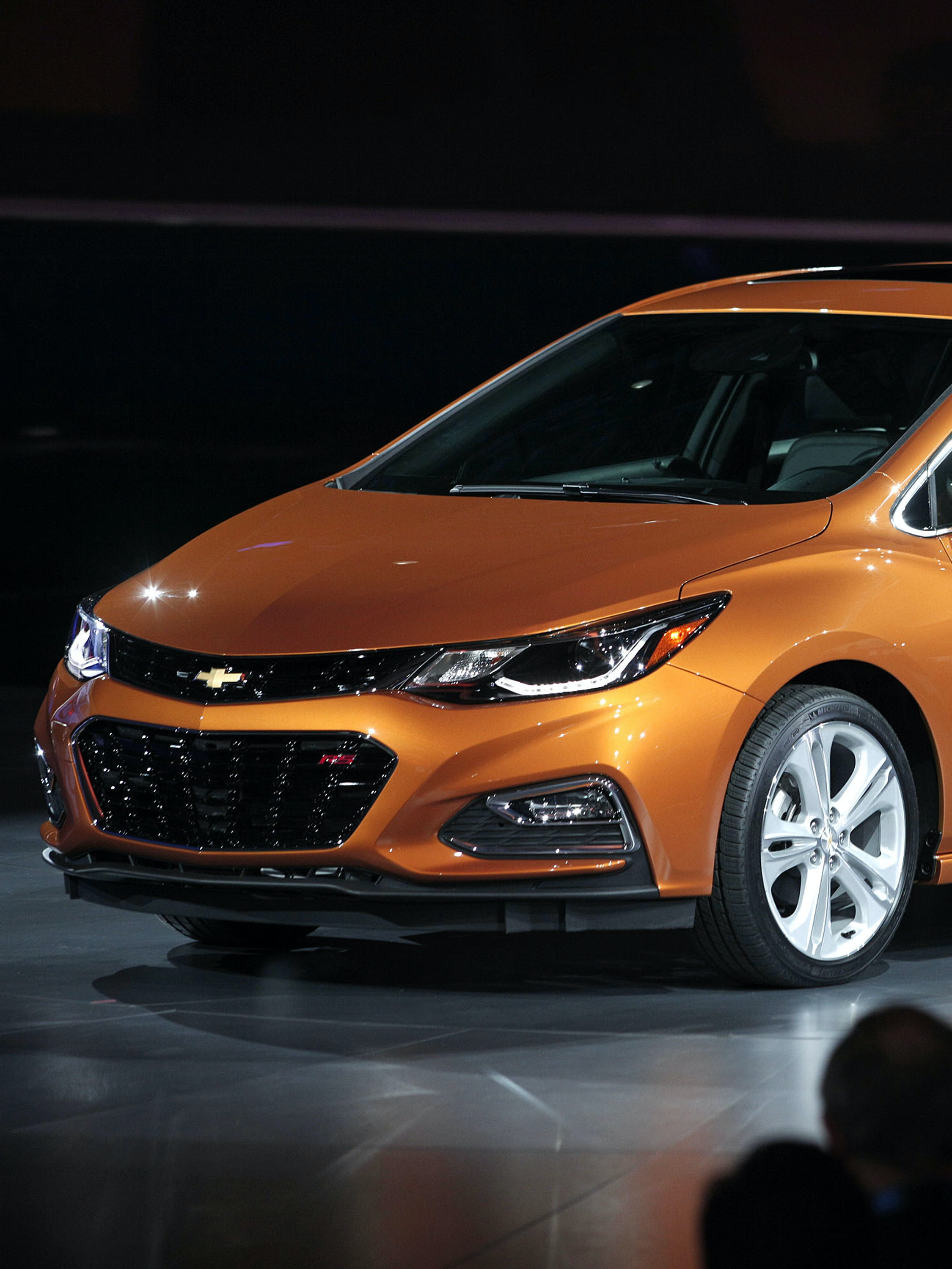 DETROIT, MI - The 2017 Chevy Cruze Hatchback is revealed to the news media at the 2016 North American International Auto Show January 11th, 2016 in Detroit, Michigan. The NAIAS runs from January 11th to January 24th and will feature over 750 vehicles and interactive displays.  (Photo by Bill Pugliano/Getty Images)