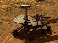 NASA's Opportunity rover on Mars in this simulated view