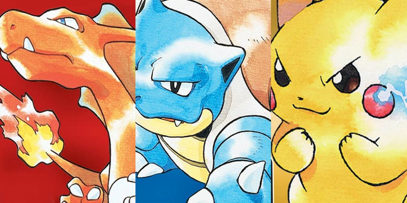 Pokemon Red, Blue, and Yellow