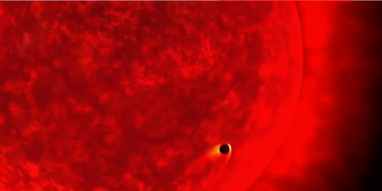 Red Giant Swallows a Planet
