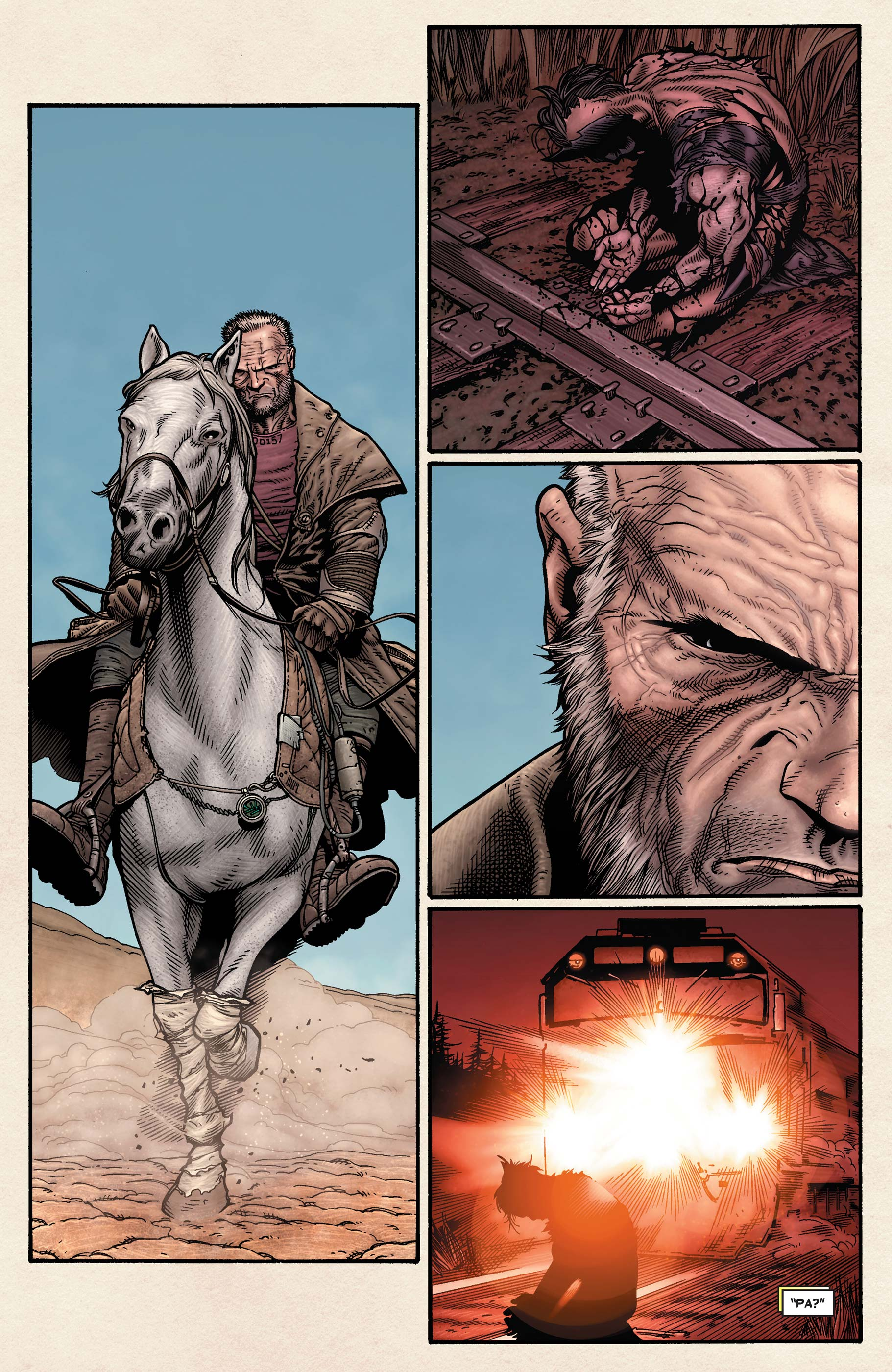 The 'Old Man Logan' comics focus heavily on Logan's shame about his past.