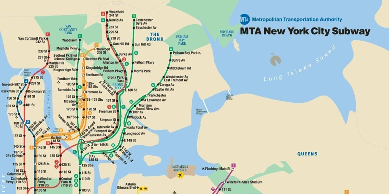 Real Subway Map Nyc.These Visualizations Show The Gap Between Maps And Reality Inverse
