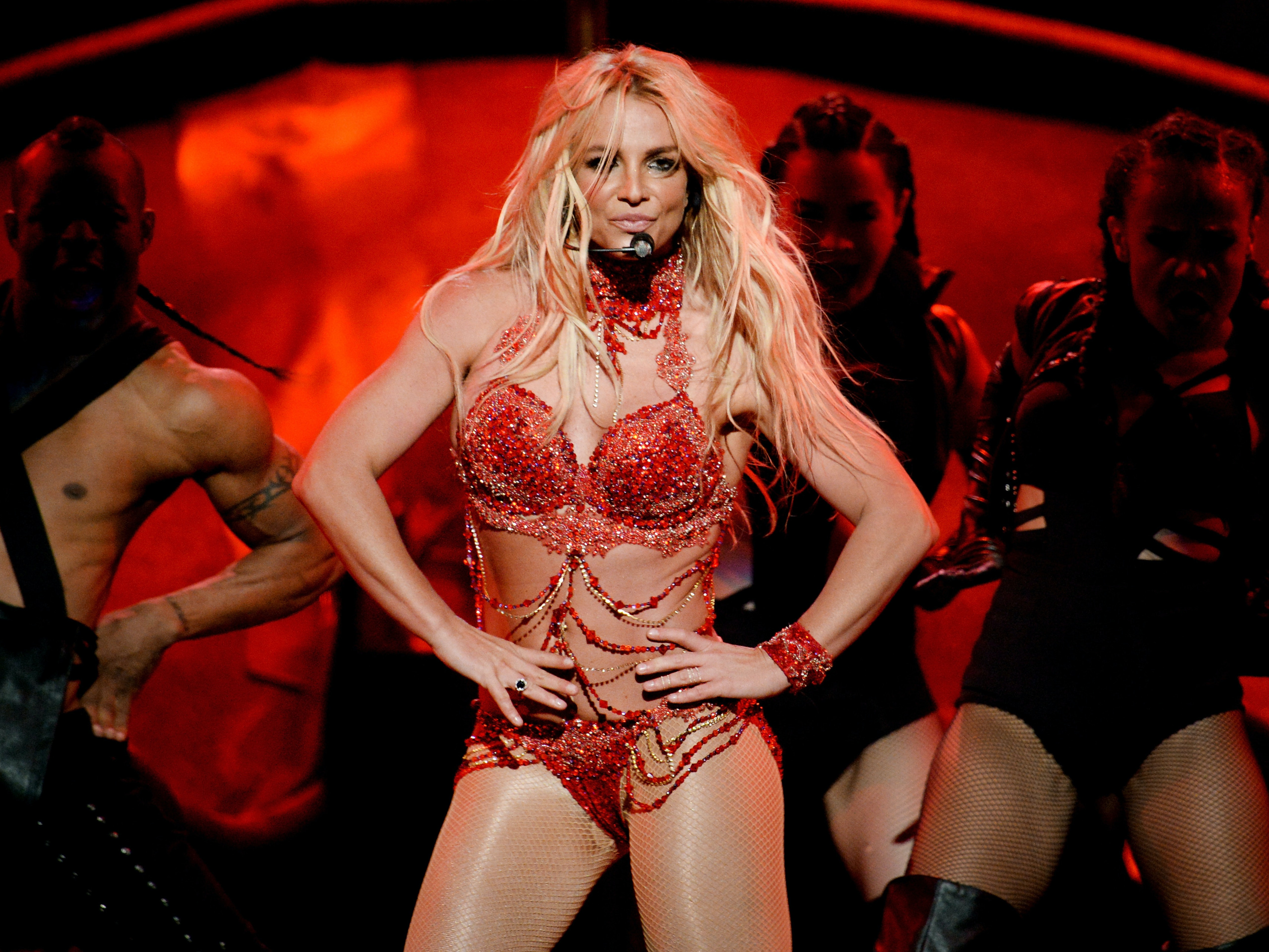 Britney Spears performing at the 2016 Billboard Music Awards