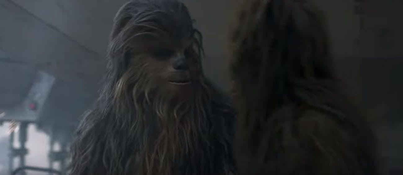 That other Wookie is actually played by Anthony Daniels in 'Solo'.