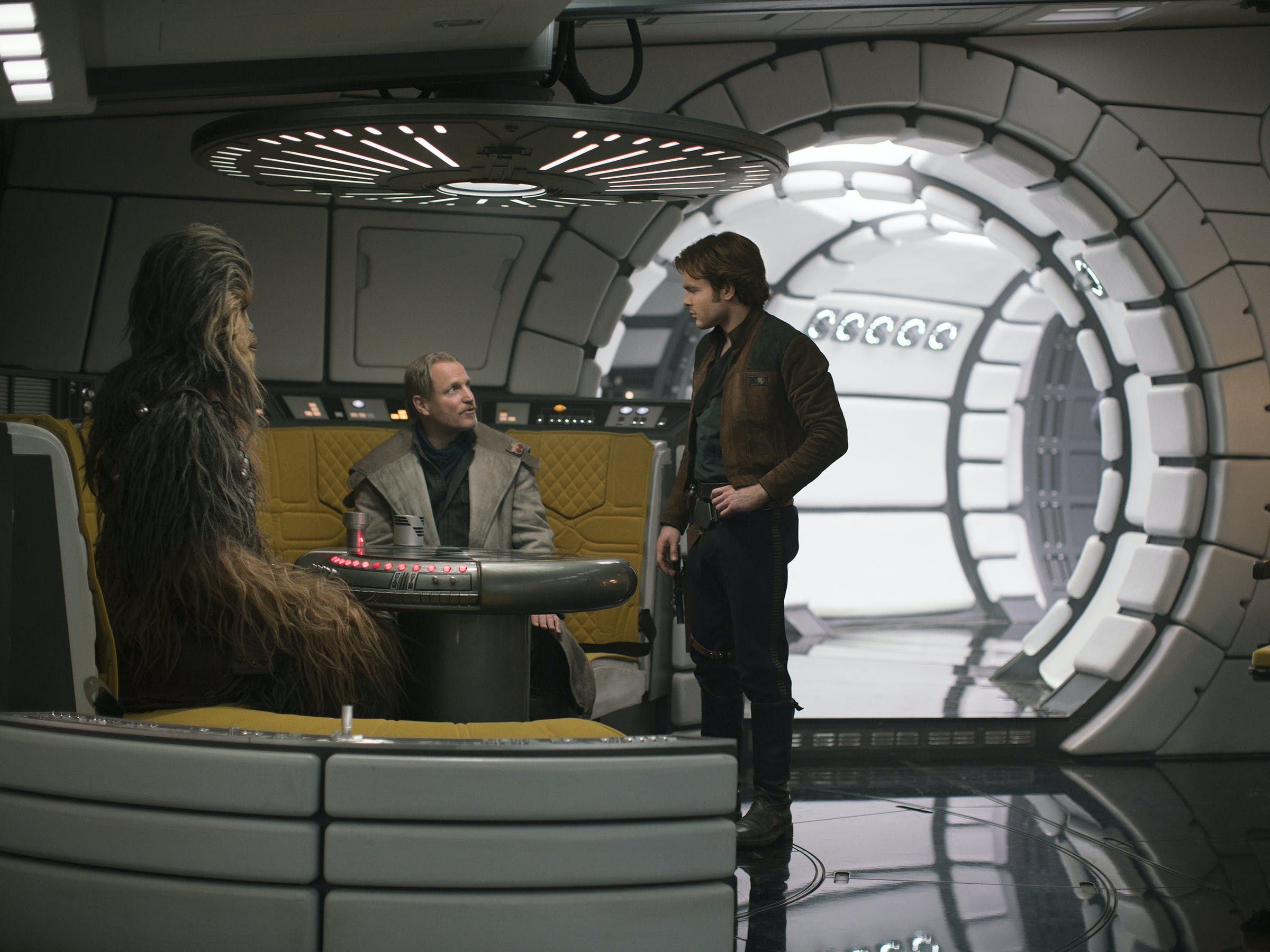 'Solo: A Star Wars Story' shiny Millennium Falcon.