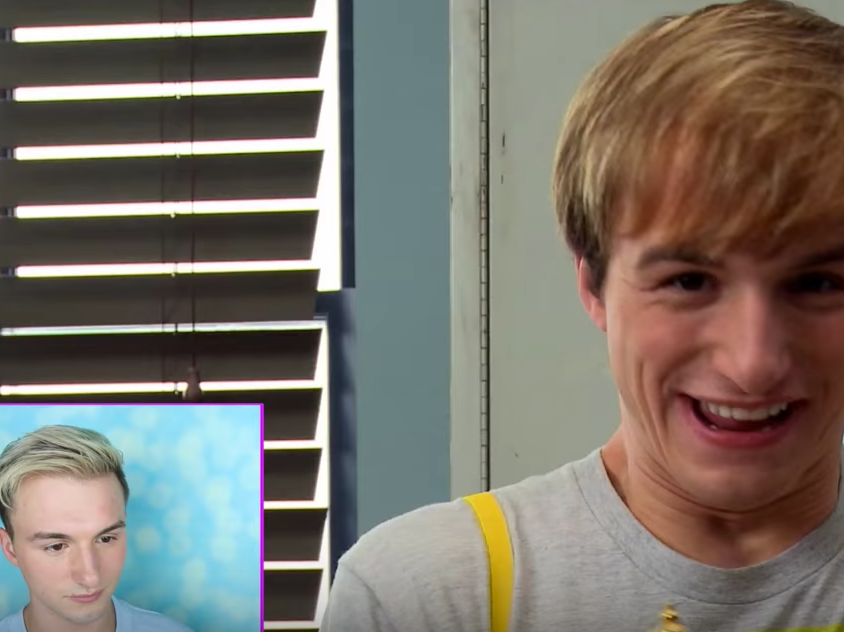 """Lukas Cruikshank reacts to his failed """"Fred: The Series"""" in a recent YouTube upload."""