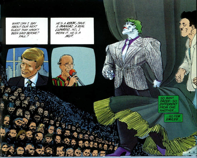 The Joker in Frank Miller's 'The Dark Knight Returns.'