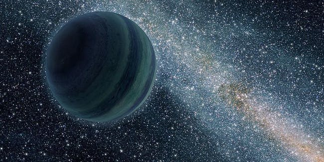 Artist's rendering of a rogue planet.