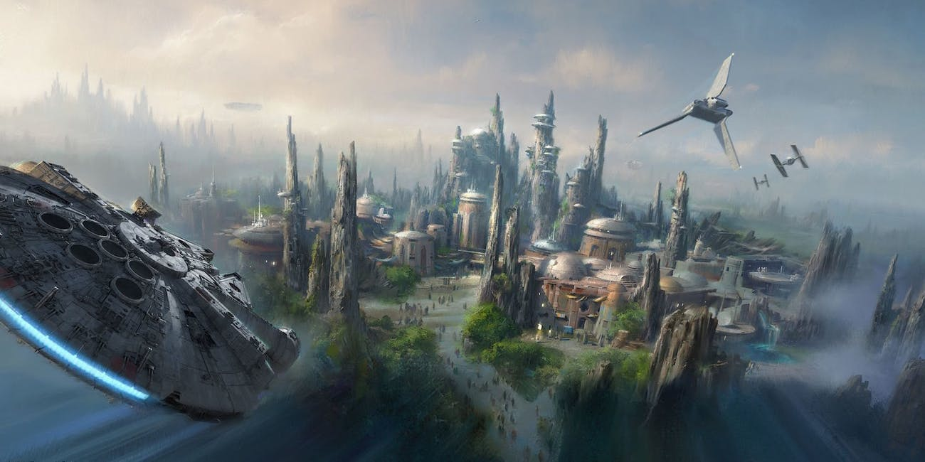 New disney world star wars land map art reveals the upcoming magic its the best look at the disney theme park currently under construction that weve seen yet gumiabroncs Image collections