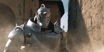 Alphonse Elric spends much of the story with his soul bonded to a suit of armor.