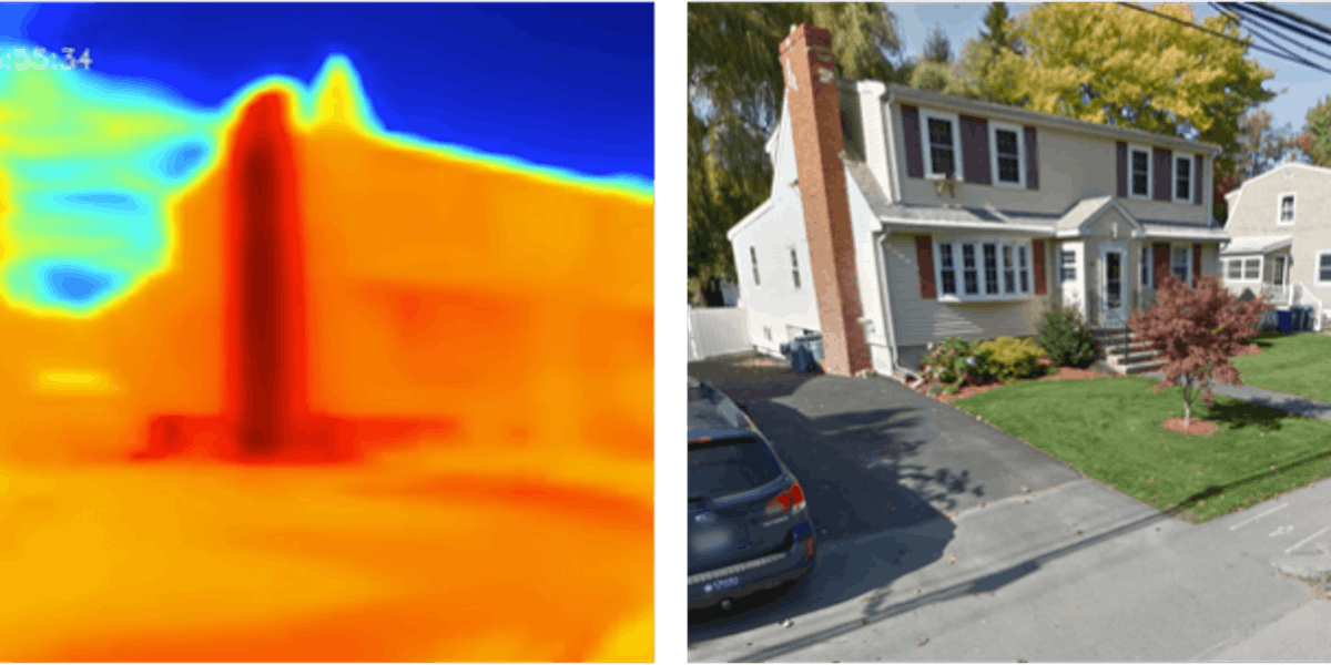 A heat scan of a local home.