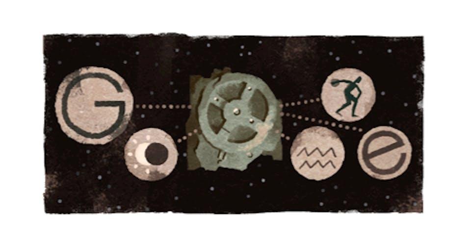 Antikythera Mechanism google doodle computer ancient greece greek