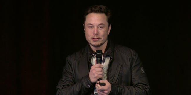 Elon Musk at the shareholder event.
