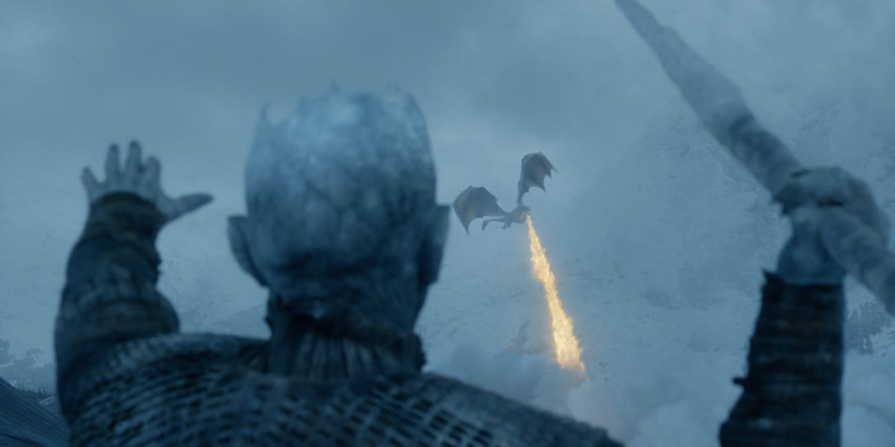 Game of Thrones Night King kills Viserion