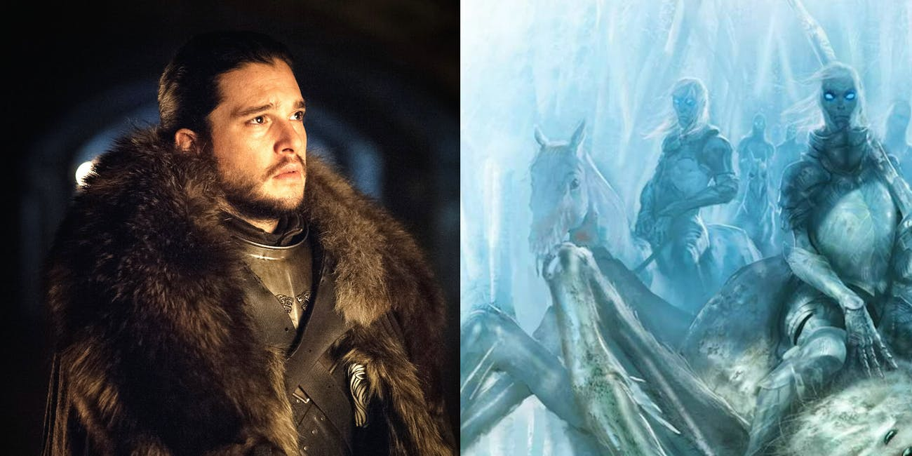 Jon Snow and Ice Spiders in 'Game of Thrones' Season 7