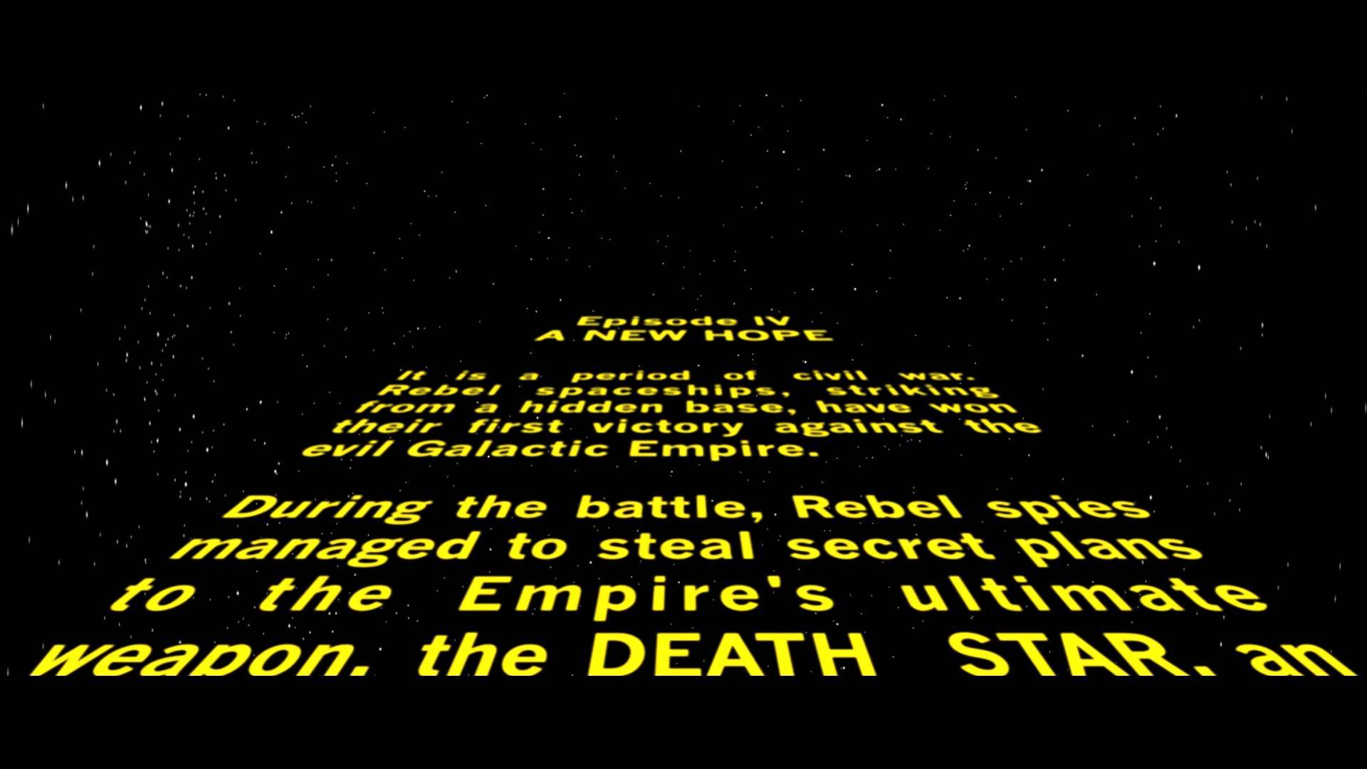 Image result for star wars opening credits