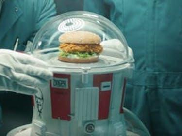 rob lowe kfc zinger chicken sandwich colonel sanders space suit