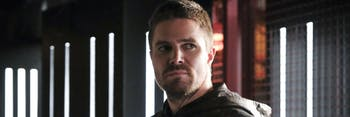 """Stephen Amell as Oliver Queen/Green Arrow in Arrow Episode """"All for Nothing."""""""
