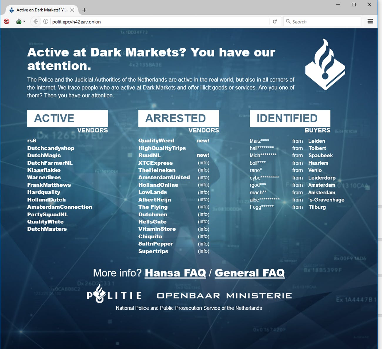 Dark Web Users Are Freaking Out After the DoJ's AlphaBay