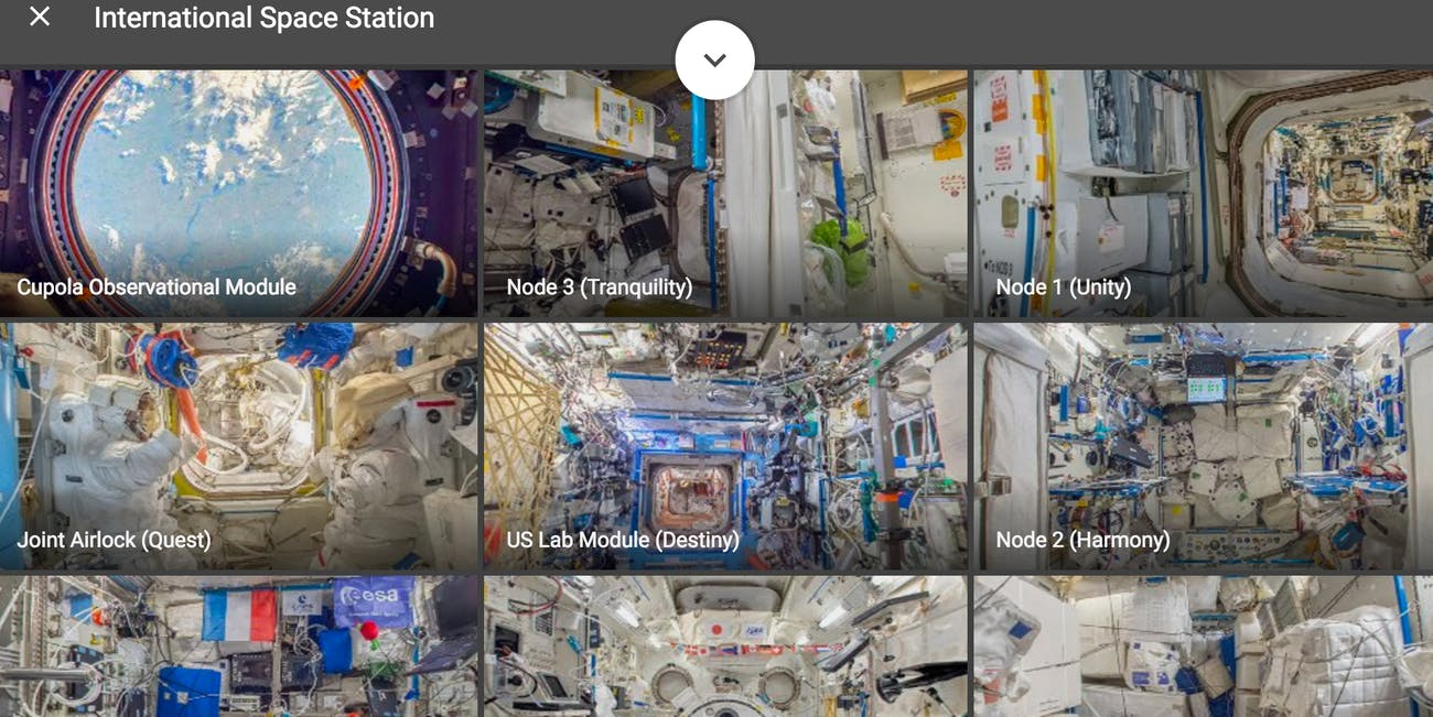 google street view international space station