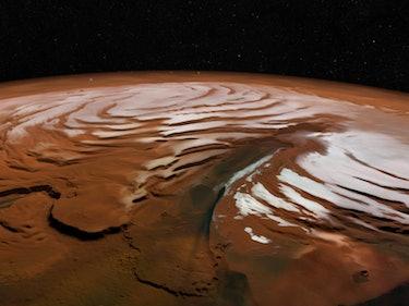 New Images of Mars Show Winter Wonderland