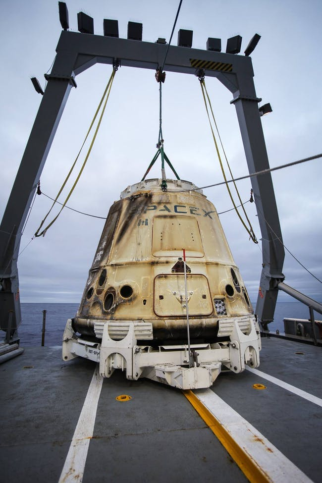 spacex dragon return