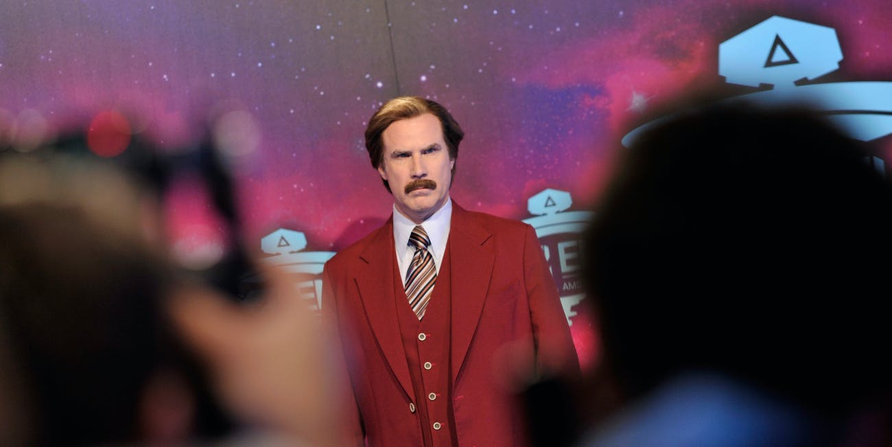 ron burgundy anchorman red carpet